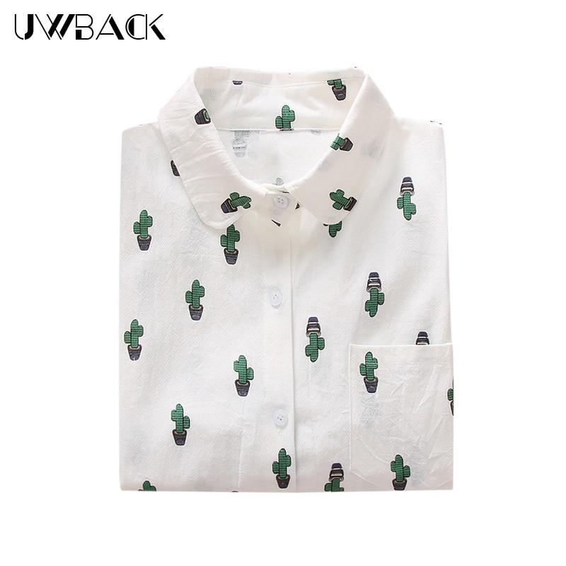 Uwback nieuwe dames witte cartoon shirts 2018 nieuwe nieuwigheid - Dameskleding