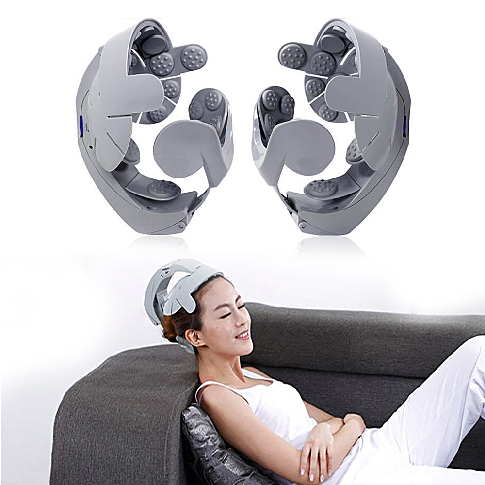 Multi-function Electric Head Massager Home Use Spa Massage Brain Relax Easy Head Scalp Soothing Acupuncture Tool humanized design electric head massager brain massage relax easy acupuncture points fashion gray health care home
