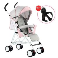 Kidlove Lightweight Folding Shock proof Sitting Baby Stroller with 4 Wheels Absorber Folding Baby Carriage Baby Bassinet 0 3Y
