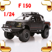 New Year Gift F150 1/24 Larger Model Car Metal Vehicle Toys Showcase Window Display Truck Die cast Collection Alloy Present Toy
