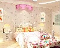 Beibehang Papel De Parede Pastoral Small Floral Wallpaper Bedroom Warm Living Room TV Background Sofa Wall