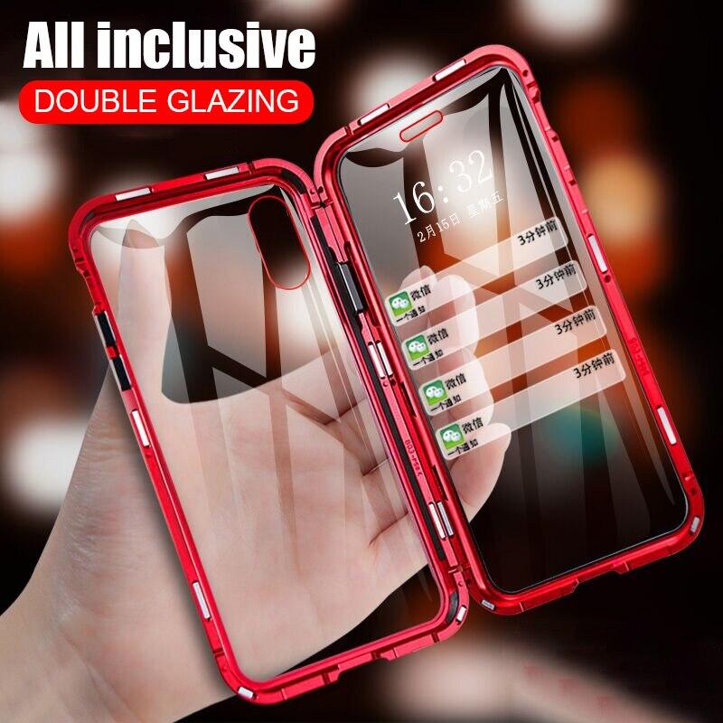 ZNP Magnetische Adsorption Metall Telefon Fall Für iPhone 6 6s 8 7 Plus X Doppelseitige Glas Magnet Abdeckung für iPhone X XS MAX XR Fällen