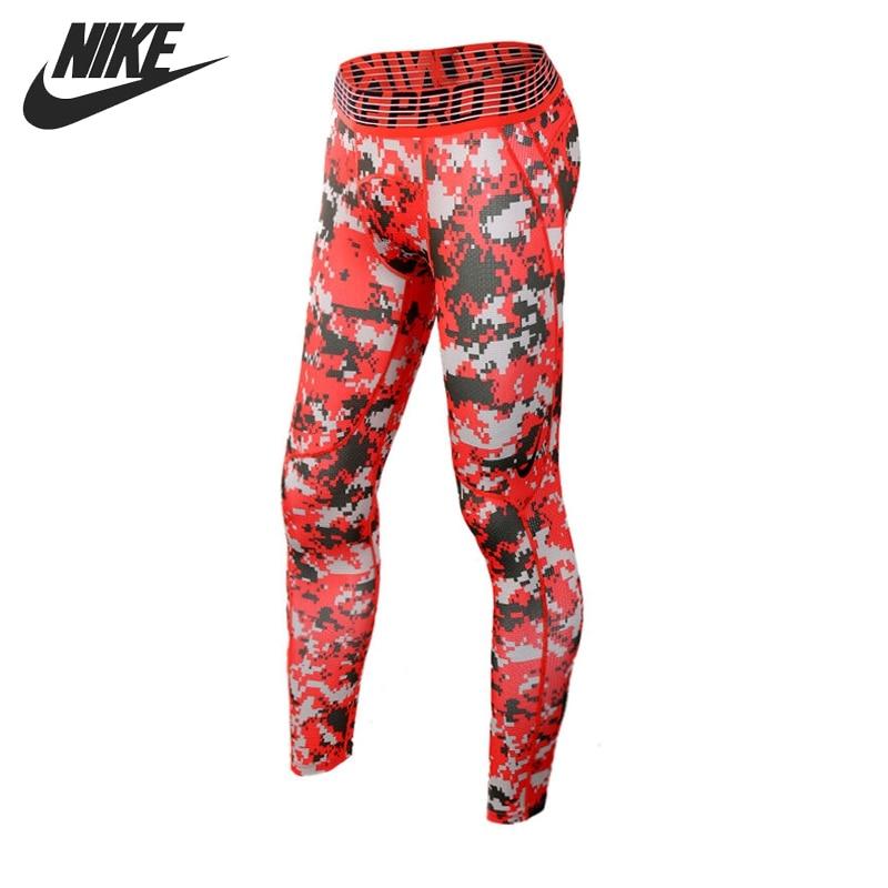Original New Arrival NIKE HPRCL TGHT DIGI CAMO Men's Tight Pants Sportswear