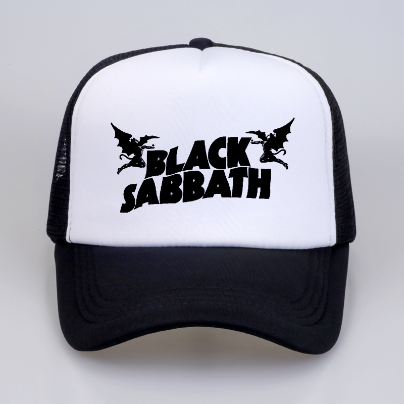 fashion Men Women   Baseball     Caps   Black Sabbath Rock   Caps   Summer Heavy Metal Rock Music Band Mesh Net Trucker   Cap   Hat