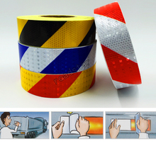5cmX 10m Car Motorcycle Reflective Tape Film Stickers Car Styling Bicycle Safety Warning Conspicuity Reflective adhesive tape