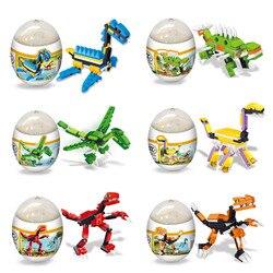 1 шт. пластиковые Пазлы Детские игрушки Монтессори сборка деформация яйца динозавр головоломка игрушки для детей смешная игрушка случайный...