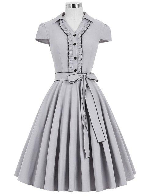 0cb2720313 50s 60s Swing Vintage Retro Party Dress Short Sleeve Summer Women Housewife  Dress Fashionable Rockabilly Dress