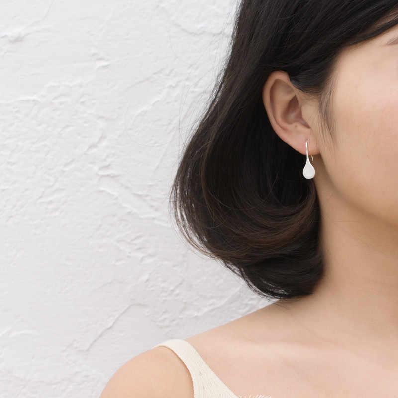 RYOUCUTE Real 925 Sterling Silver Leaf ใหญ่ต่างหูสำหรับผู้หญิงงานแต่งงานเครื่องประดับเกาหลีเงินต่างหู Pendientes Bijoux