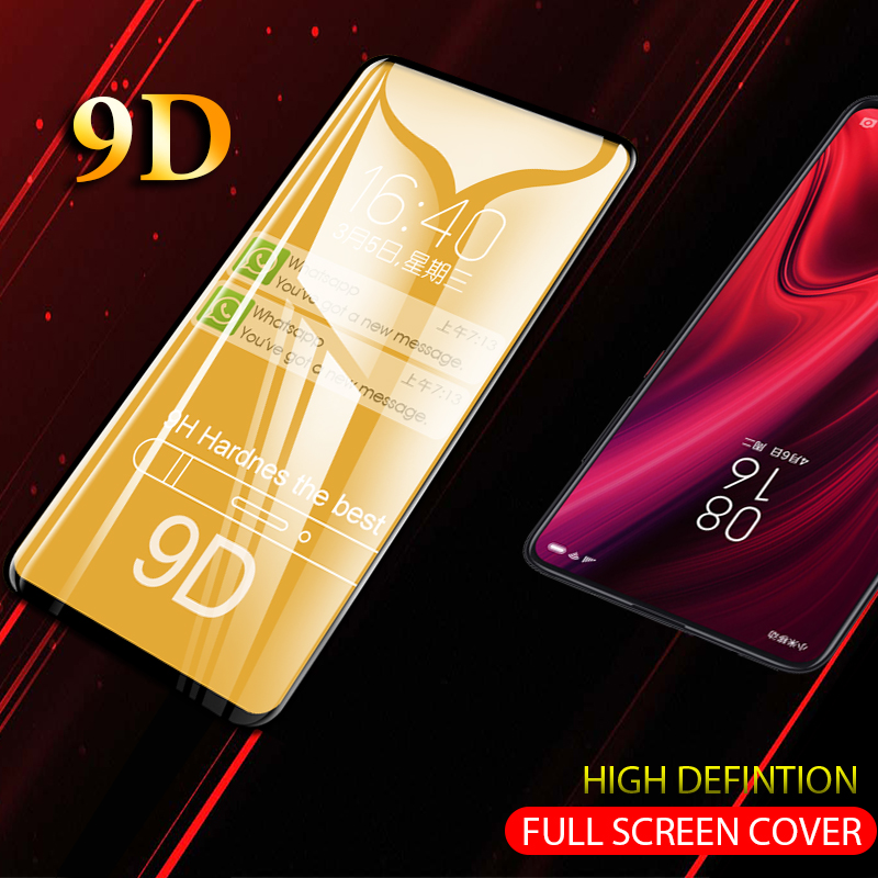 9D Full Covered Glass For Redmi K20 Pro K20 9 D Screen Protective Glass On For Xiaomi Redmi K20 Pro Note 7 6 Pro 6A 5 Plus Glass