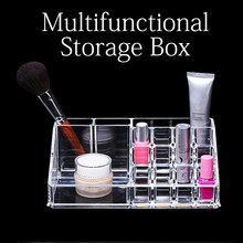 Tattoo Acrylic Tattoo Ink Cup Clear Crystal Lipstick Jewelry Box Makeup Pigment Cups Caps Storage Container Rack Holder Stand(China)
