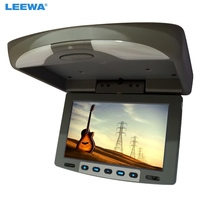 LEEWA 9 Flip Down TFT LCD Monitor Car Monitor Roof Mounted Monitor 2 Way Video Input 3 Color Black, Grey For Choice #1282