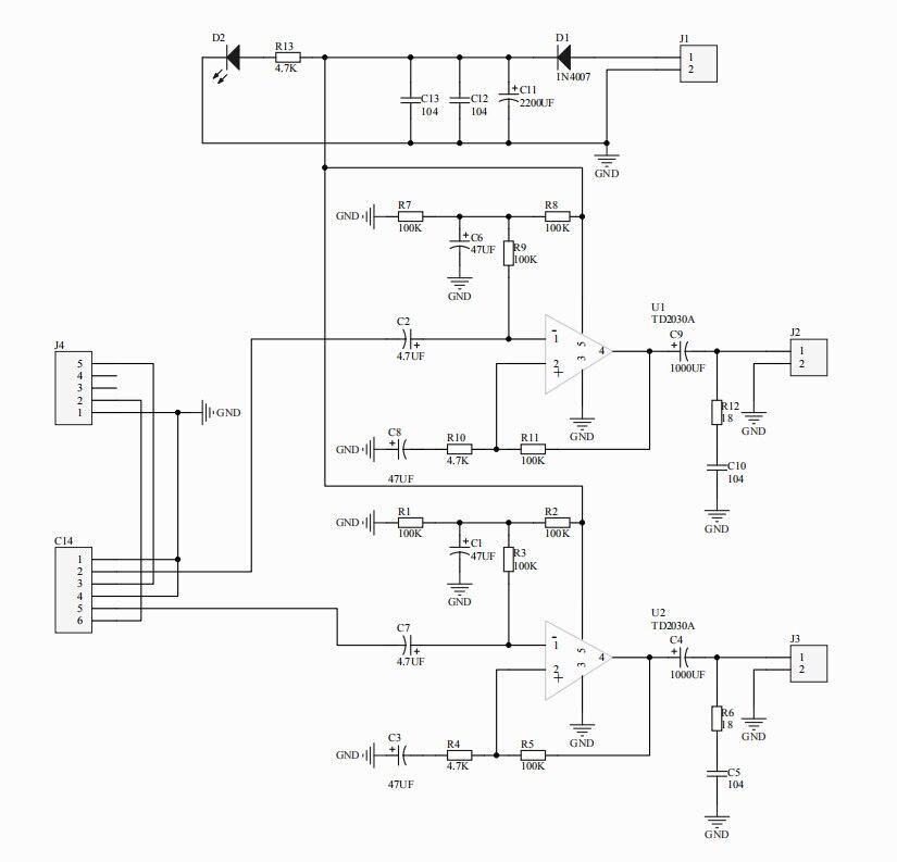 DIY Dual Channel TDA2030A Power Amplifier Board DIY Kit for