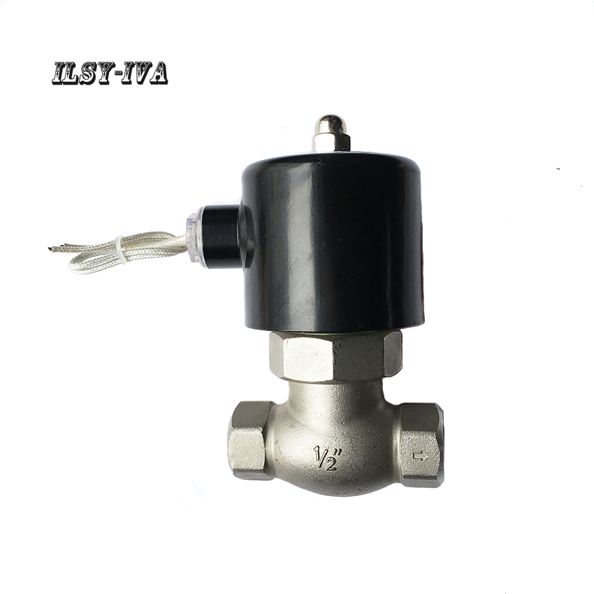 US series 2 way dn15 piston-type stainless steel high temperature and high pressure steam solenoid valve