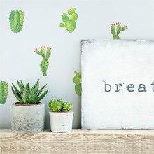 Adhesivos de pared creativos móviles, Cactus bonito, adhesivos con decoración de pared, decoración de ventanas, vinilos decorativos para paredes