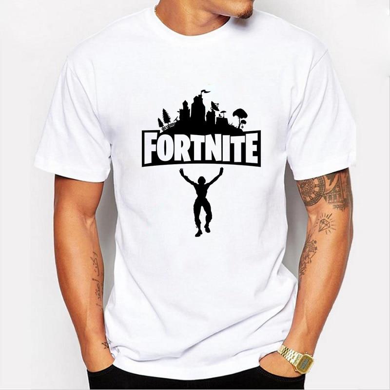 2018 caliente Fortnite estilo verano camiseta de los hombres de manga - Ropa de hombre