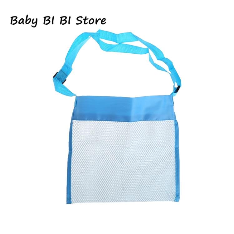 Портативная детская пляжная сумка из песка, коллекция игрушек для переноски - Цвет: Синий