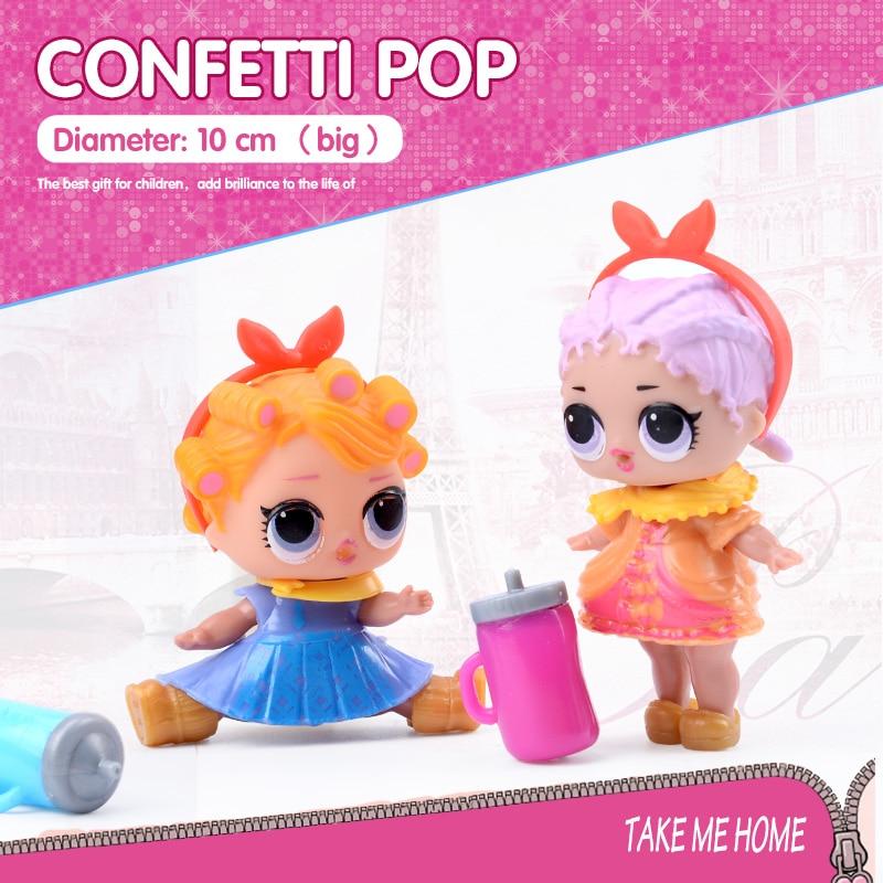 Confetti Pop 10cm Big Lol Doll In Balls 3 Series Egg Toys For Girls