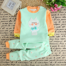 Winter Pullover Cartoon Baby Girls Clothes Cotton Baby's Sets T2634-2655