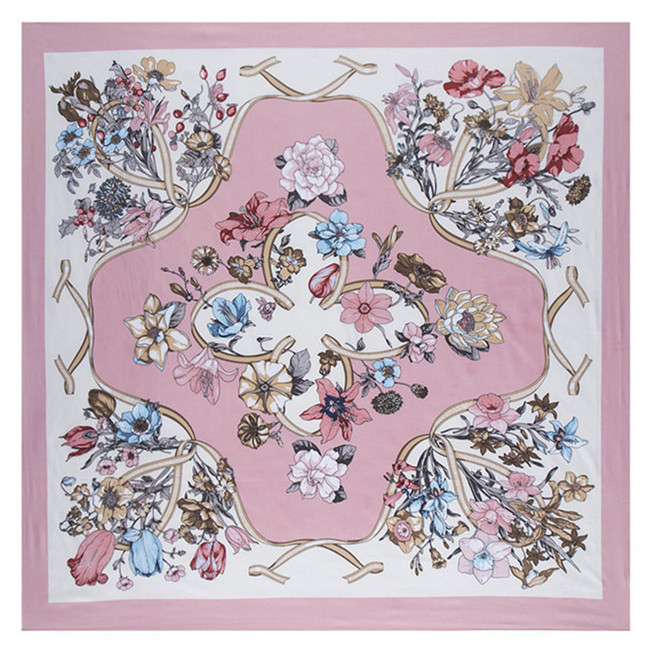 69bcb8d99c614 US $8.48 45% OFF|Luxury Brand 100% Twill Silk Scarf For Ladies Floral  Square Scarf 2019 New Design Print Kerchief Woman Neck Shawl Wraps  Echarpe-in ...