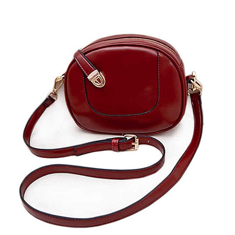 2017 New fashion women messenger bag PU leather mini shoulder bag designer small hasp Circular leather bag women handbags