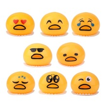 Novelty Magic Tricky Toy Vomiting Egg Yolk Practical Jokes Gift Release Stress Fun Creative Toys For Friends Kids