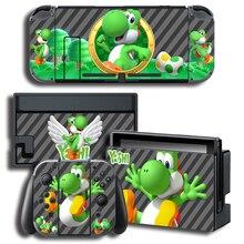 Adesivo per la protezione della pelle in vinile per pelli Yo shi per Console Nintendo Switch NS + Controller + Skin per supporto