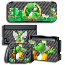 Vinyl Skin Protector Sticker for Yo shi Skins for Nintendo Switch NS Console + Controller + Stand Holder Skins