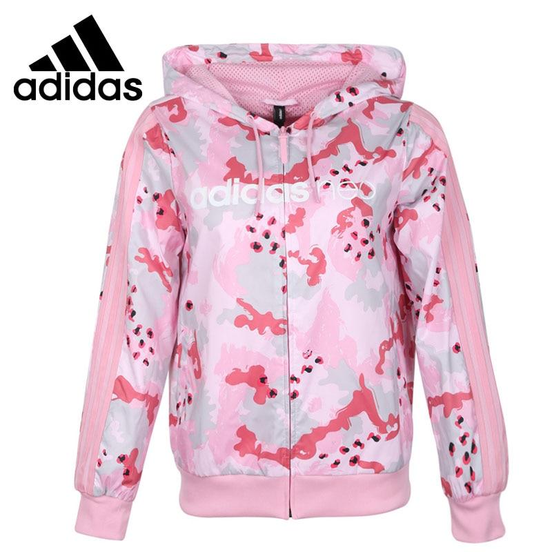 ¡Novedad! Chaqueta rompevientos Adidas NEO W, ropa deportiva con capucha  para mujer