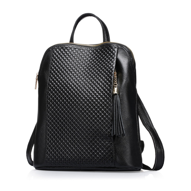 Nesitu New Fashion Blue Black Red Genuine Leather Women Backpack Female Girl Backpacks Ladies Shoulder Bag