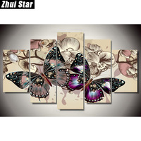 Zhui Star 5D DIY Full Square Diamond Painting Butterfly Multi Picture Combination Embroidery Cross Stitch Mosaic