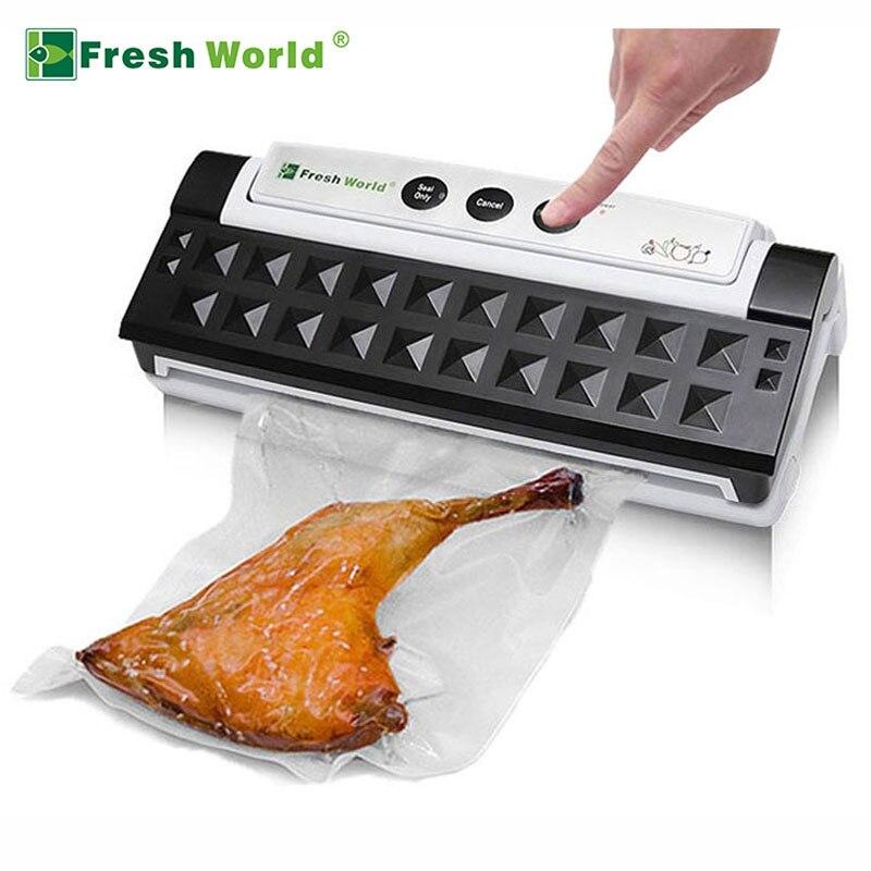 Sigillatore di Vuoto della famiglia di Imballaggio Macchina Elettrica Automatica Della Cucina Nero Bianco Alimentare Saver Vacuum Packer sistema Di Tenuta Best Vendita