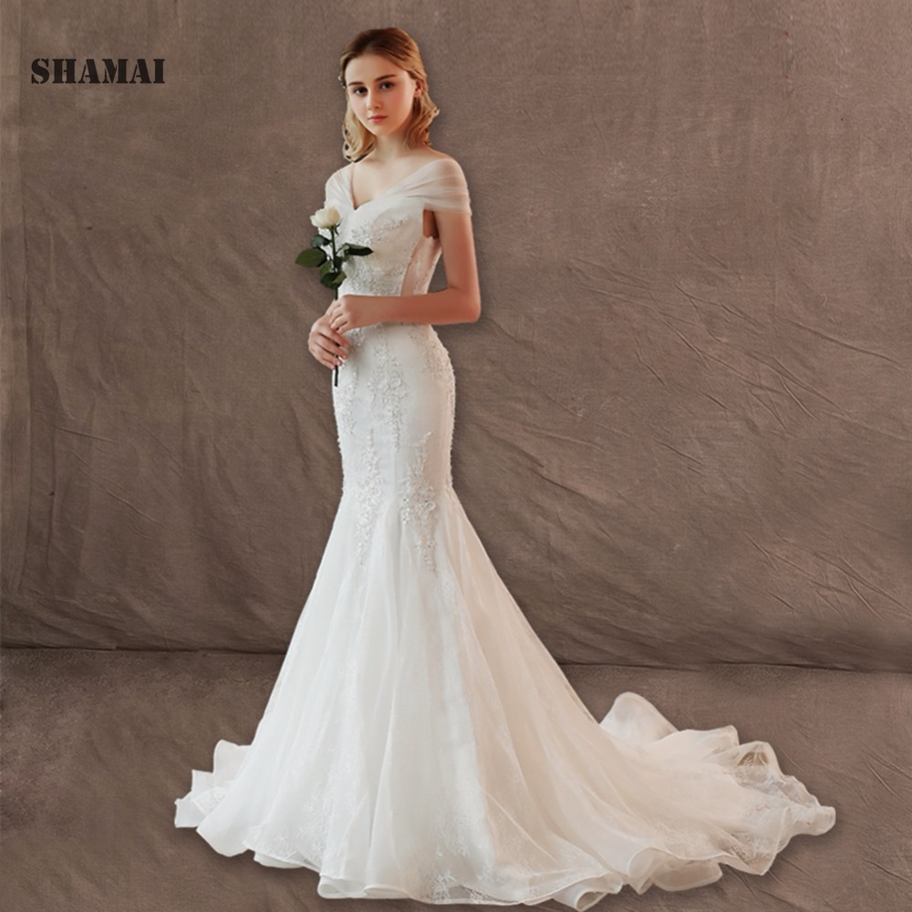 2019 Lace Wedding Dresses: 2019 Bridal Gowns Vintage Sexy Mermaid Wedding Dresses