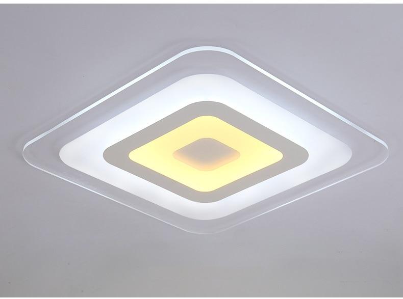 Ультра-тонкий Акрил светодиодный потолочный светильник дома Гостиная Спальня Кабинет освещения бизнес-Ресторан Открытый Потолочные свети...
