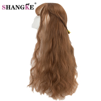 SHANG KE 26 Blonde Wigs Long Hairstyles Long Kinky Curly Synthetic Wigs For Black Women High
