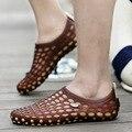 Nuevo 2017 Famosa Marca Casual Hombres sandalias Zapatillas de Verano flip flop Zapatos Playa boho sandalias zapatillas
