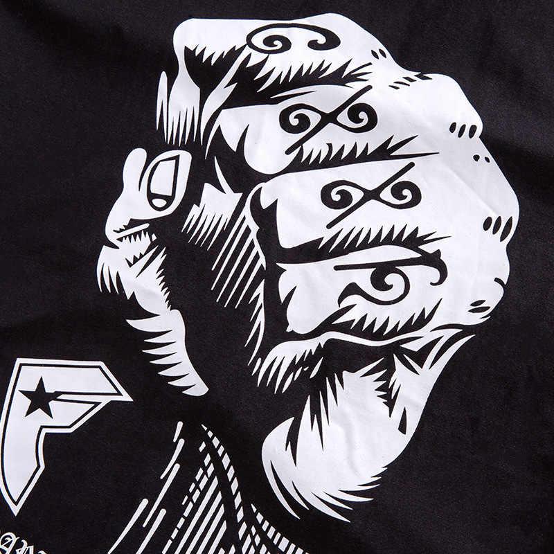 GXXH 2019 модная новая хлопковая Мужская футболка больших размеров Мужская Повседневная футболка с длинными рукавами с рисунком кулак Мужская футболка для полных 5XL 6XL 7XL