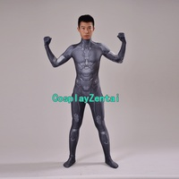Male Halo Master Chief Game Cosplay Superhero Costume Spandex Zentai Catsuit For Halloween
