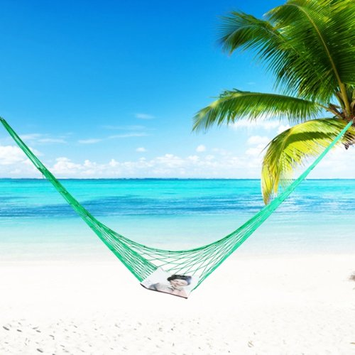 HGHO- Portable Nylon Parachute Hammock Garden Outdoor Camping Travel Furniture Survival Hammock Swing Sleeping Bed Tools portable parachute double hammock garden outdoor camping travel furniture survival hammocks swing sleeping bed for 2 person