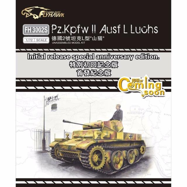 Flyhawk FH3002S 1/72 pz. Kpfw II Ausf L Luchs especial de liberación rápida edición de aniversario