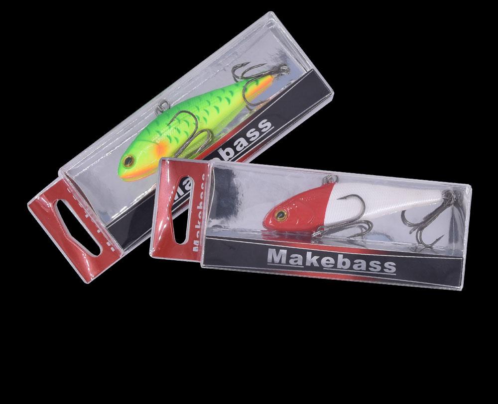 Makebass 3.35in1.15oz vib fishinglures naufrágio chocalho iscas