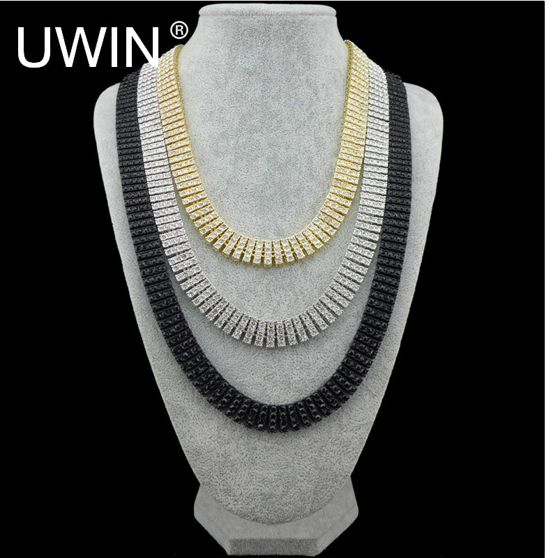 Men Hip Hop Chain Necklace Silver Gold Color Black Shiny 4 Row Crystal Rhinestone Luxury Necklace Link Fashion Punk Jewelry 30 petal rhinestone chain fringe necklace