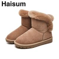 Women's winter warm snow boots women's casual warm wear resistant boots non slip Korean boots H 8830