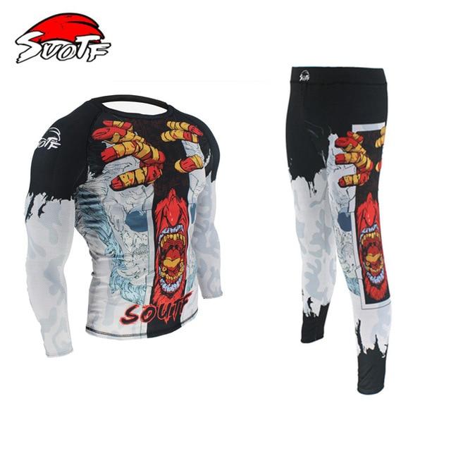 SUOTF Ghost Series Domineering Fight Fitness Sweatshirt Mma Jerseys And Pants Tiger Muay Thai