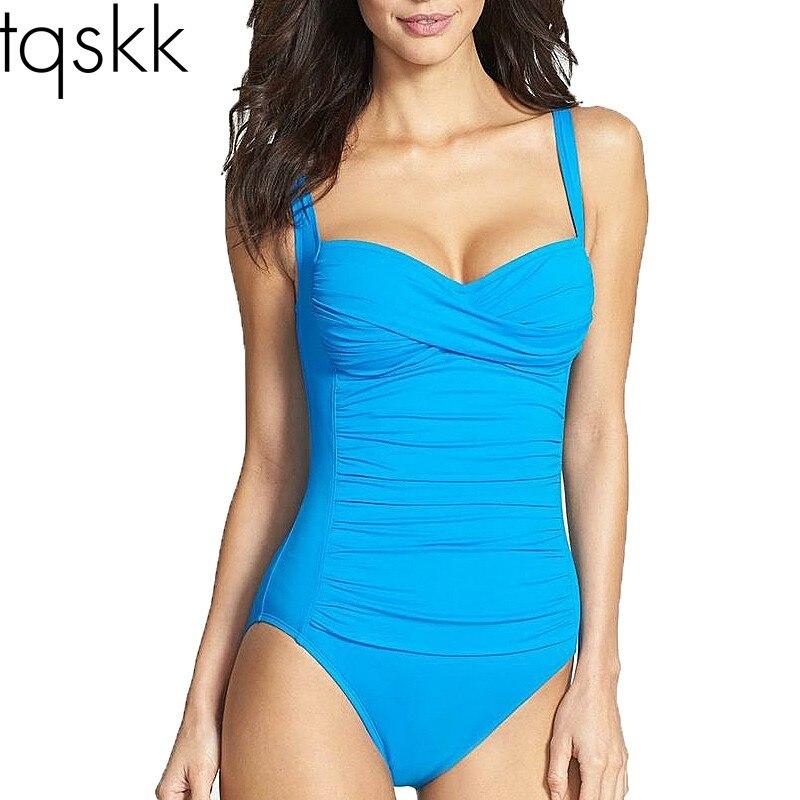 8e1b7fc8e92 Detail Feedback Questions about TQSKK M~4XL Plus Size Swimwear One ...