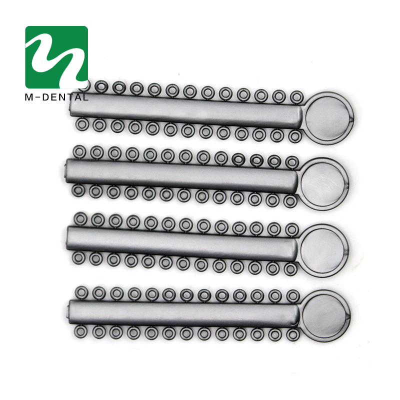 40pcs/bag Gray Dental ligature Tie Orthodontics Elastomeric Ligature Ties Braces Bands For Dental Clinic