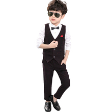 Boy Suits for Weddings Prom Formal Suits Birthday Dress for Boys Tuexdo Children Clothing 3 piece Vest + shirt + pants