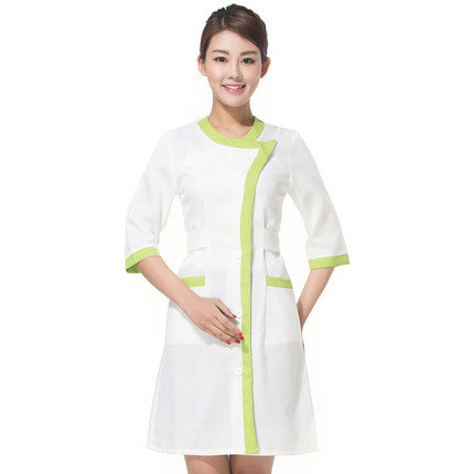 2017 New arrive lab coat cotton medical nurse clothing spa uniform uniform women suit for dental clinic beautician 3 colors