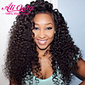 Alionly Water Wave Virgin Hair With Closure Malaysian Water Wave With Closure Curly Weave Human Hair Bundles With Lace Closures