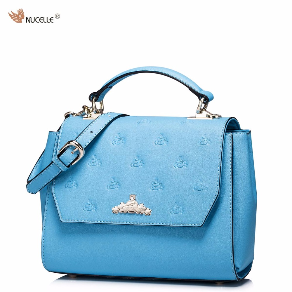NUCELLE Brand  Design Women Handbags Of Famous Brands Cow Leather Shoulder Crossbody Bags Peekaboo Bag Girls Gifts stylish zinc alloy quartz analog wrist watch bracelet for women golden multicolored 1 x 626