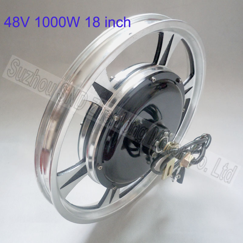 Customized 18 inch e-bike motor 48V60V 1000watt /high speed brushless DC bike diy parts G-M058 - Suzhou SND Zhenlong Motor Co. Ltd store